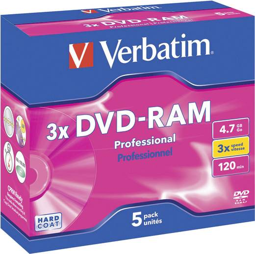 VERBATIM DVD-RAM 4.7GB HC 3X 5ER CT4