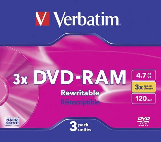 VERBATIM DVD-RAM 4.7GB HC 3X 3ER SLIM