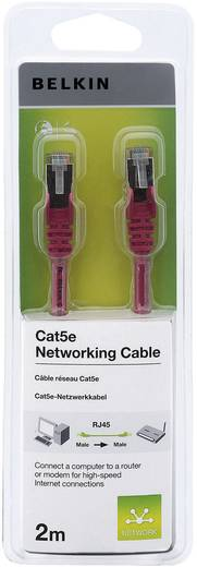 RJ45 Netzwerk Anschlusskabel CAT 5e S/FTP 2 m Rot mit Rastnasenschutz Belkin