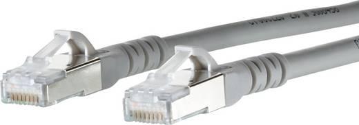RJ45 Netzwerk Anschlusskabel CAT 6a S/FTP 20 m Grau mit Rastnasenschutz Metz Connect