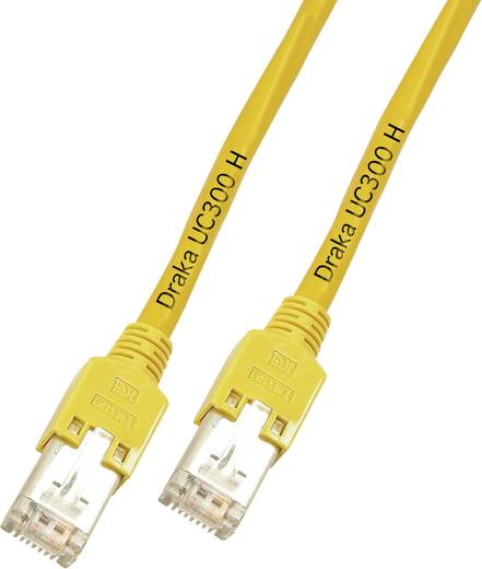 RJ45 Netzwerk Anschlusskabel CAT 5e F/UTP 1 m Gelb Flammwidrig DRAKA