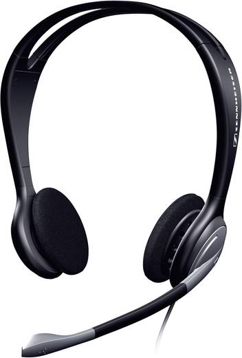 PC-Headset 3.5 mm Klinke schnurgebunden, Stereo Sennheiser HEADSET PC131 On Ear Schwarz