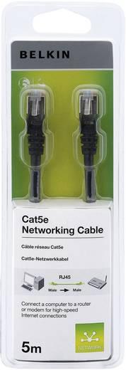 RJ45 Netzwerk Anschlusskabel CAT 5e S/FTP 5 m Schwarz mit Rastnasenschutz Belkin