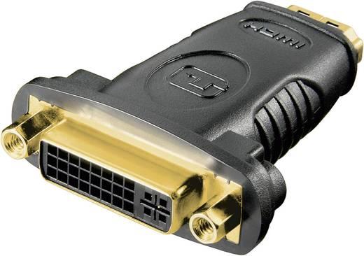 HDMI / DVI Adapter [1x HDMI-Buchse - 1x DVI-Buchse 24+5pol.] Schwarz vergoldete Steckkontakte Goobay