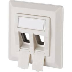 Sieťová zásuvka pod omietku Metz Connect 1309151002KE, 2 porty, biela