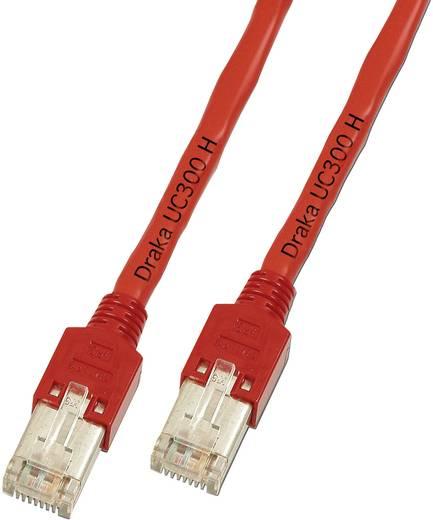 DRAKA RJ45 Netzwerk Anschlusskabel CAT 5e F/UTP 1 m Rot Flammwidrig