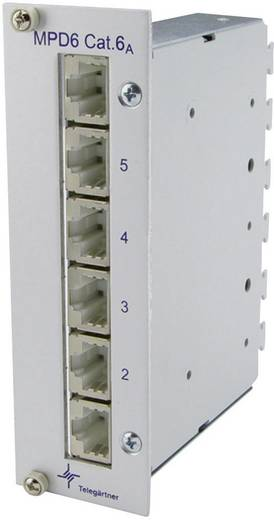 6 Port Netzwerk-Patchpanel Telegärtner J02021A0054 CAT 6a 3 HE