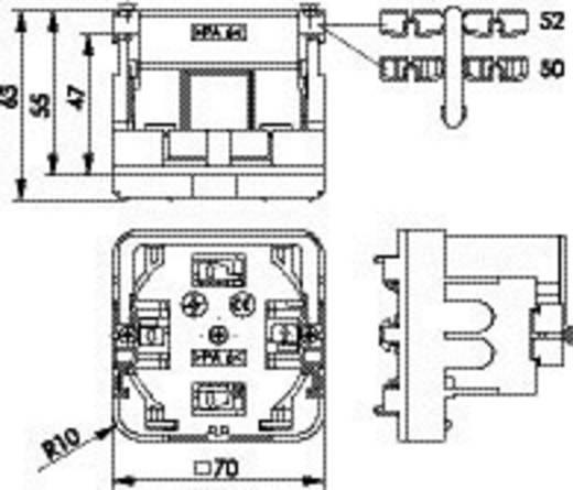 Montagehalter Kanal-Anschlussdosen Telegärtner H02010B0013 Weiß