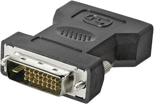 DVI Adapter [1x DVI-Stecker 24+1pol. - 1x DVI-Buchse 24+5pol.] Schwarz Goobay