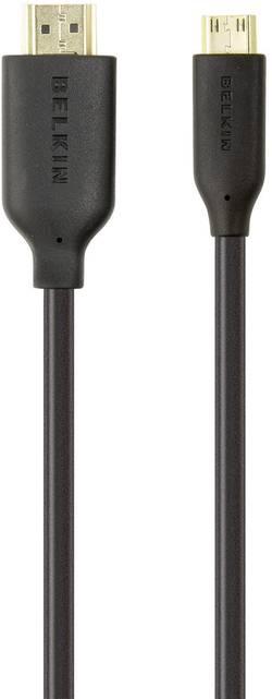 Câble de raccordement Belkin F3Y027bf3M [1x HDMI mâle - 1x HDMI mâle C mini] 3 m noir