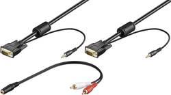 VGA kabel k monitoru, 3,5 mm jack konektor, Stereo-Audio kabel, černý, 2 m