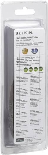 Belkin HDMI Anschlusskabel [1x HDMI-Stecker - 1x HDMI-Stecker D Micro] 3 m Schwarz