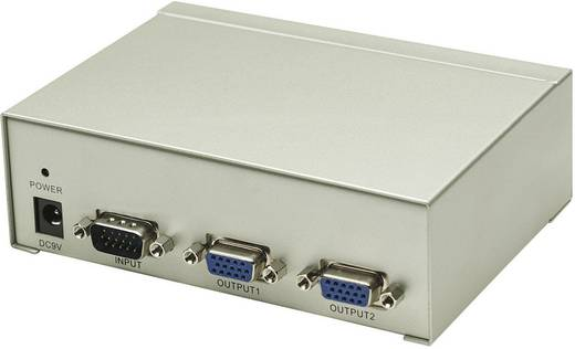 2 Port VGA-Splitter Manhattan Silber