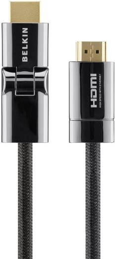 Belkin High Speed HDMI-Kabel ProHD4000 3D-Winkel-Stecker mit Ethernet und vergoldeten Kontakten 1 m Schwarz