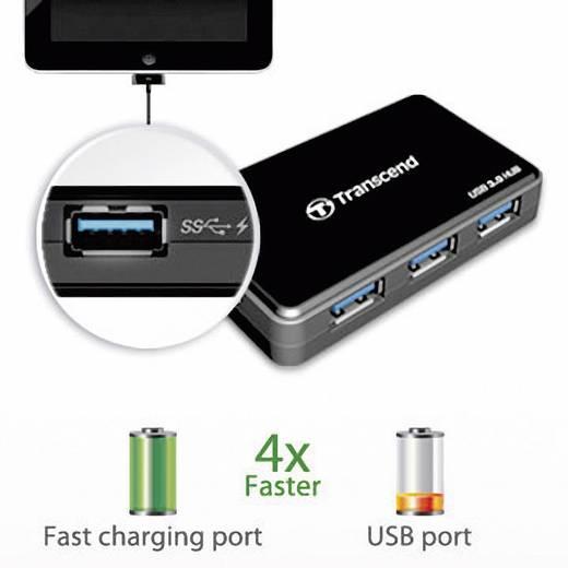 Transcend TS-HUB3K 4 Port USB 3.0-Hub Schwarz