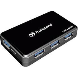 USB 3.0 hub Transcend TS-HUB3K, 4 porty, 78.6 mm, čierna