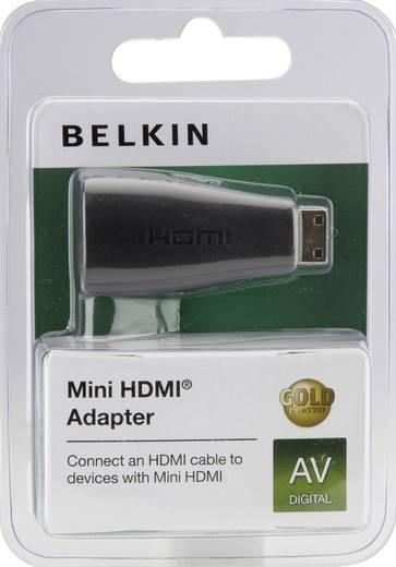 HDMI Adapter [1x HDMI-Stecker C Mini - 1x HDMI-Buchse] Schwarz vergoldete Steckkontakte Belkin