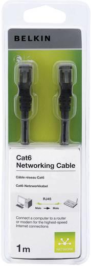 RJ45 Netzwerk Anschlusskabel CAT 6 S/FTP 1 m Schwarz mit Rastnasenschutz Belkin