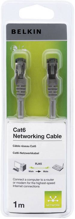 Câble de raccordement réseau RJ45 CAT 6 S/FTP Belkin - [1x RJ45 mâle - 1x RJ45 mâle] - 1 m -