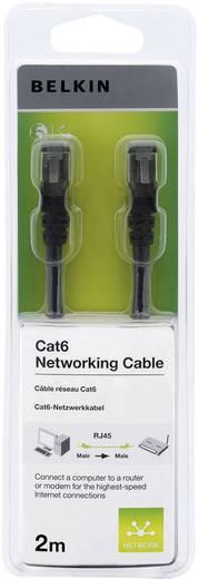 RJ45 Netzwerk Anschlusskabel CAT 6 S/FTP 2 m Schwarz mit Rastnasenschutz Belkin