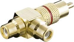 Cinch audio Y adaptér Goobay 11388, zlatá, červená