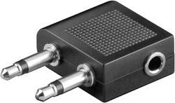 Adaptateur Y Goobay 61004 [2x Jack mâle 3.5 mm - 1x Jack femelle 3.5 mm] 0 m noir
