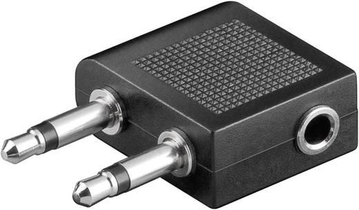 Klinke Audio Y-Adapter [2x Klinkenstecker 3.5 mm - 1x Klinkenbuchse 3.5 mm] Schwarz Goobay