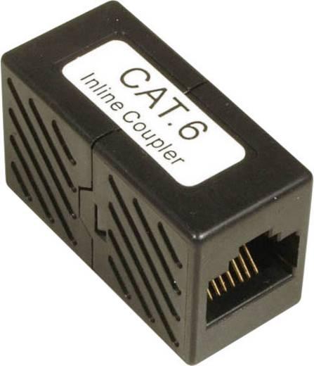 RJ45 Netzwerk Adapter CAT 6 [1x RJ45-Buchse - 1x RJ45-Buchse] 0 m Schwarz EFB Elektronik