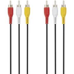 AV prepojovací kábel Belkin F3Y083bf1M F3Y083bf1M, [3x cinch zástrčka - 3x cinch zástrčka], 1 m, čierna