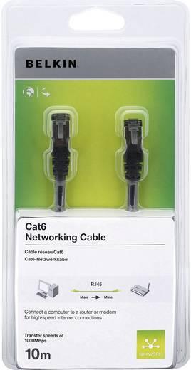 RJ45 Netzwerk Anschlusskabel CAT 6 S/FTP 10 m Schwarz mit Rastnasenschutz Belkin