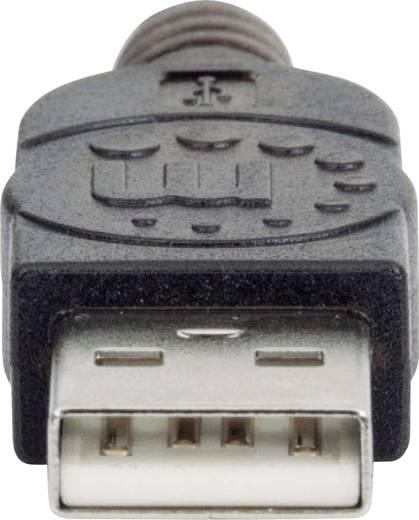 USB 2.0 Verlängerungskabel [1x USB 2.0 Stecker A - 1x USB 2.0 Buchse A] 10 m Schwarz Manhattan