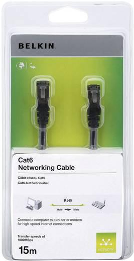 RJ45 Netzwerk Anschlusskabel CAT 6 S/FTP 15 m Schwarz mit Rastnasenschutz Belkin