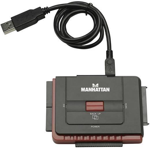 USB 2.0 Anschlusskabel [1x USB 2.0 Stecker A - 1x SATA-Buchse 7pol., IDE-Buchse 40pol.] 0.76 m Schwarz Manhattan