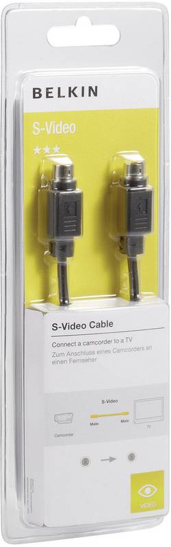 Câble de raccordement Belkin F3Y088bf5M [1x S vidéo mâle - 1x S vidéo mâle] 5 m noir