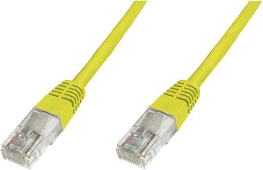 RJ45 Netzwerk Anschlusskabel CAT 6 U/UTP 10 m Gelb UL-zertifiziert, mit Rastnasenschutz Digitus Professional