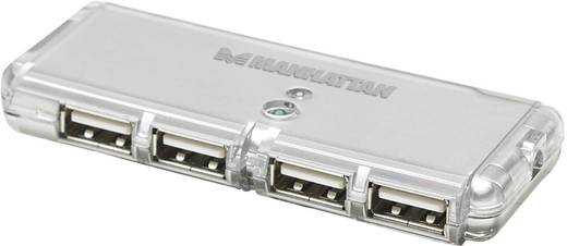 4 Port USB 2.0-Hub Manhattan Silber