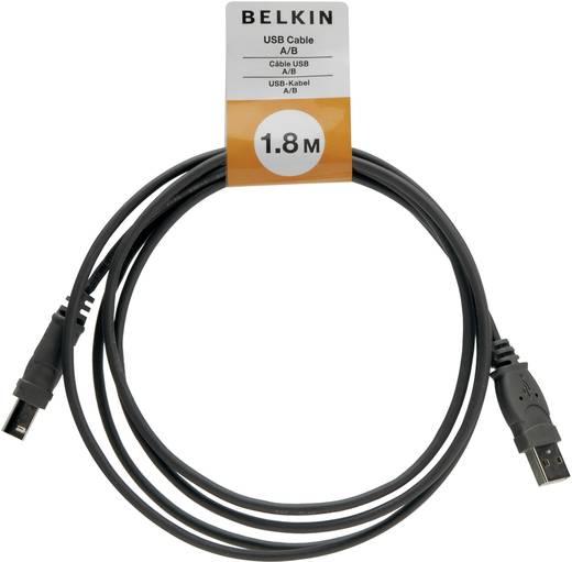 USB 2.0 Anschlusskabel [1x USB 2.0 Stecker A - 1x USB 2.0 Stecker B] 1.8 m Schwarz UL-zertifiziert Belkin