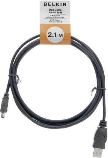 Belkin USB 2.0 Anschlusskabel [1x USB 2.0 Stecker A - 1x USB 2.0 Stecker Mini-B] 2 m Schwarz UL-zertifiziert
