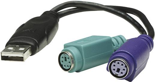 PS/2 / USB Tastatur/Maus Anschlusskabel [2x PS/2-Buchse - 1x USB 1.1 Stecker A] 0.20 m Schwarz Manhattan