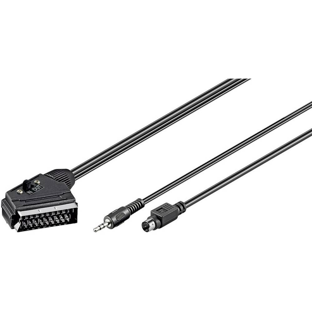 SCART / Klinke / S-Video TV, Receiver Anschlusskabel [1x