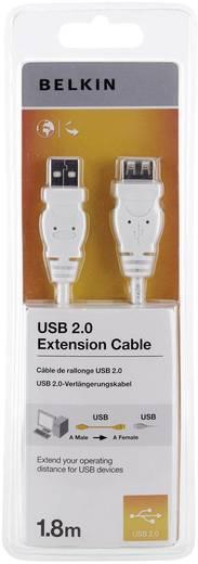 USB 2.0 Verlängerungskabel [1x USB 2.0 Stecker A - 1x USB 2.0 Buchse A] 1.80 m Weiß UL-zertifiziert Belkin