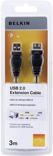 USB 2.0 Verlängerungskabel [1x USB 2.0 Stecker A - 1x USB 2.0 Buchse A] 3 m Schwarz UL-zertifiziert Belkin