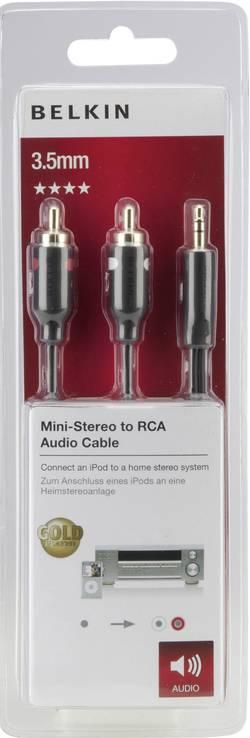 Jack / cinch audio kabel Belkin F3Y116bt5M, 5 m, černá