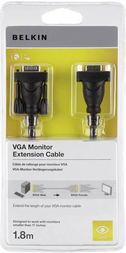 VGA Verlängerungskabel [1x VGA-Stecker - 1x VGA-Buchse] 1.80 m Schwarz Belkin