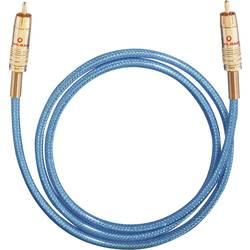 Cinch digitálny prepojovací kábel Oehlbach 10701, [1x cinch zástrčka - 1x cinch zástrčka], 1.50 m, modrá