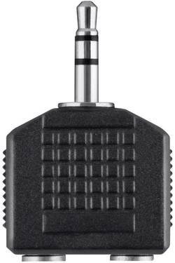 Adaptateur Y Belkin F3Y123bfP [1x Jack mâle 3.5 mm - 2x Jack femelle 3.5 mm] noir