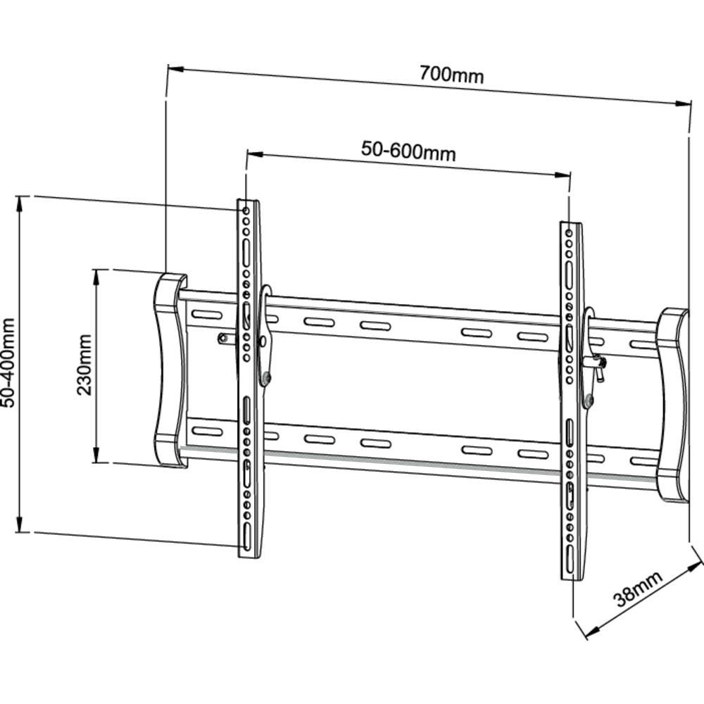 supporto a parete per tv 101 6 cm 40 139 7 cm 55 inclinabile vivanco wt 5550 in vendita. Black Bedroom Furniture Sets. Home Design Ideas