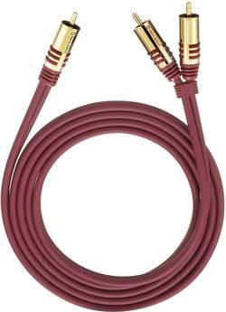 Připojovací kabel Oehlbach, cinch zástr./cinch zástr., červený, 1 m