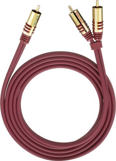 Cinch Audio Y-Kabel [2x Cinch-Stecker - 1x Cinch-Stecker] 2 m Rot vergoldete Steckkontakte Oehlbach
