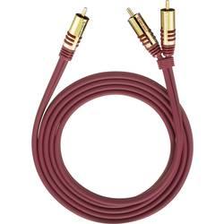 Cinch audio Y kábel Oehlbach 20563, 3 m, červená